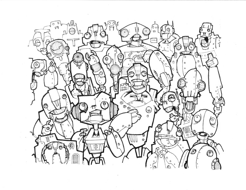 Robot Crowd scene from DST